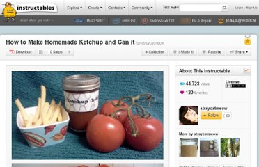 http://www.instructables.com/id/How-to-Make-Homemade-Ketchup-and-Can-it/