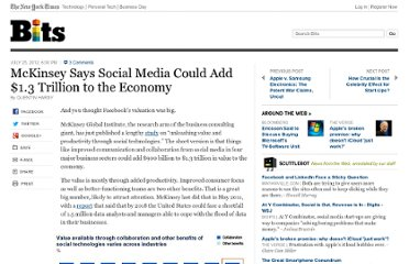 http://bits.blogs.nytimes.com/2012/07/25/mckinsey-says-social-media-adds-1-3-trillion-to-the-economy/