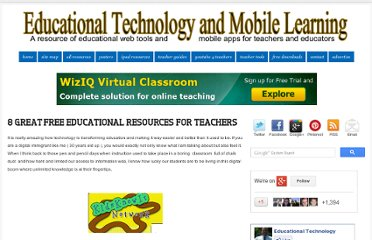 http://www.educatorstechnology.com/2012/07/8-great-free-educational-resources-for.html