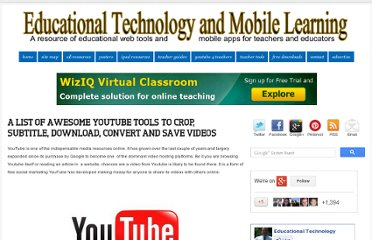 http://www.educatorstechnology.com/2012/01/list-of-awesome-youtube-tools-to-crop.html