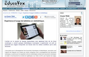 http://www.educavox.fr/formation/usages-26/Experience-d-usage-de-tablettes-en
