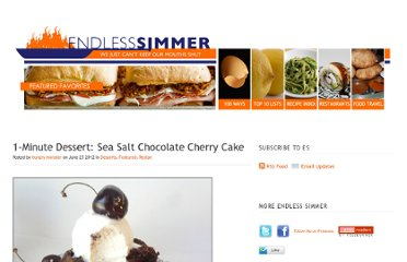 http://www.endlesssimmer.com/2012/06/25/1-minute-dessert-sea-salt-chocolate-cherry-cake/