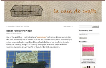 http://www.lacasadecrafts.com/2012/01/denim-patchwork-pillow/