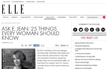 http://www.elle.com/life-love/ask-e-jean/ask-e-jean-25-things-every-woman-should-know-2
