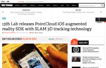 http://www.theverge.com/2012/3/14/2871235/13th-lab-pointcloud-augmented-reality-sdk-ios