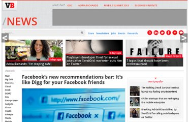 http://venturebeat.com/2012/07/26/facebooks-new-recommendations-bar-its-like-digg-for-your-facebook-friends/