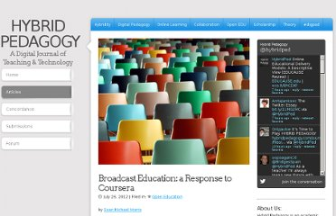 http://www.hybridpedagogy.com/Journal/files/Broadcast_Education.html
