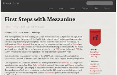 http://rosslaird.com/blog/first-steps-with-mezzanine/