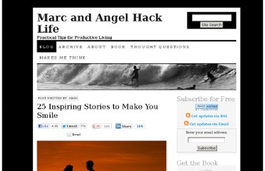 http://www.marcandangel.com/2011/07/11/25-inspiring-stories-to-make-you-smile/