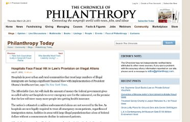 http://philanthropy.com/blogs/philanthropytoday/hospitals-face-fiscal-hit-in-laws-provision-on-illegal-aliens/51097