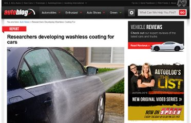 http://www.autoblog.com/2012/07/26/researchers-developing-washless-coating-for-cars/