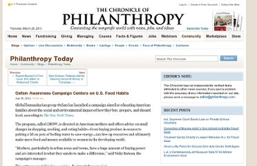 http://philanthropy.com/blogs/philanthropytoday/oxfam-awareness-campaign-centers-on-u-s-food-habits/50611