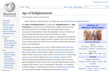 http://en.wikipedia.org/wiki/Age_of_Enlightenment