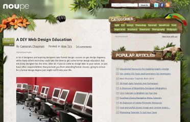 http://www.noupe.com/how-tos/a-diy-web-design-education.html