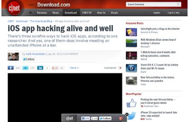 http://download.cnet.com/8301-2007_4-57481122-12/ios-app-hacking-alive-and-well/