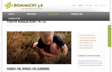 http://biomimicry.net/educating/youth-education-k-12/