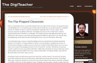 http://digiteacher.wordpress.com/2011/10/13/the-flip-flopped-classroom/