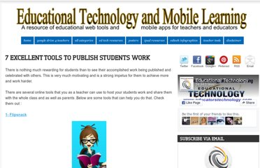 http://www.educatorstechnology.com/2012/07/7-excellent-tools-to-publish-students.html