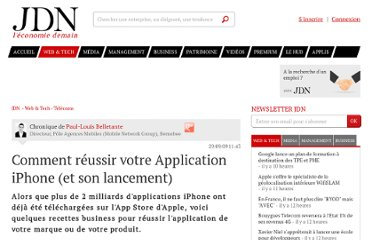 http://www.journaldunet.com/ebusiness/expert/42164/comment-reussir-votre-application-iphone--et-son-lancement.shtml