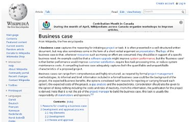 http://en.wikipedia.org/wiki/Business_case