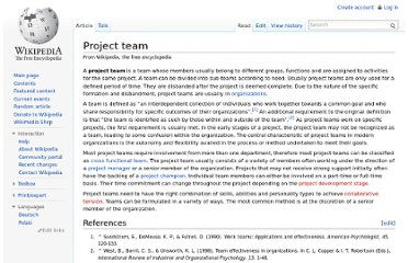 http://en.wikipedia.org/wiki/Project_team
