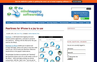 http://mindmappingsoftwareblog.com/pearltrees-for-iphone/