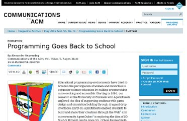 http://cacm.acm.org/magazines/2012/5/148567-programming-goes-back-to-school/fulltext