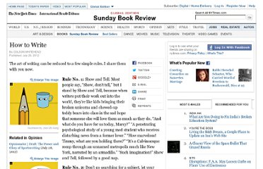 http://www.nytimes.com/2012/07/29/books/review/colson-whiteheads-rules-for-writing.html?_r=1&pagewanted=all