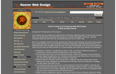 http://www.hooverwebdesign.com/articles/how-to-create-an-ecommerce-empire.html