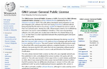http://en.wikipedia.org/wiki/GNU_Lesser_General_Public_License