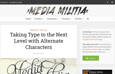 http://mediamilitia.com/taking-type-to-the-next-level-with-alternate-characters/