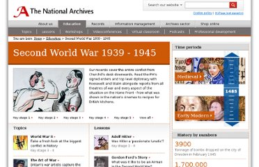 http://www.nationalarchives.gov.uk/education/world-war-two.htm