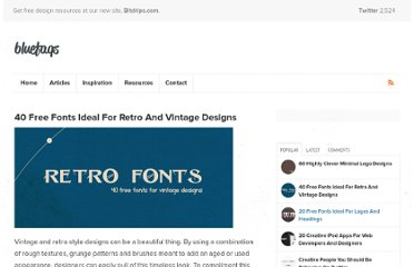 http://bluefaqs.com/2010/05/40-free-retro-and-vintage-fonts/