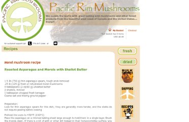 http://www.pacrimmushrooms.com/recipes.php