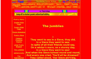 http://www.mundesleyjuniorschool.com/InternetResources/Literacy/Poetry/thejumblies.shtml