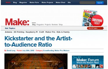 http://blog.makezine.com/2012/07/26/kickstarter-and-the-artist-to-audience-ratio/