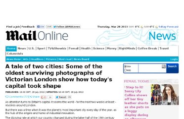 http://www.dailymail.co.uk/news/article-2180284/Photographs-Victorian-London-todays-capital-took-shape.html