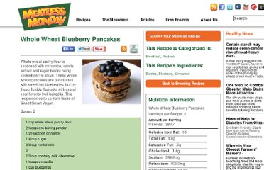 http://www.meatlessmonday.com/whole-wheat-blueberry-pancakes/