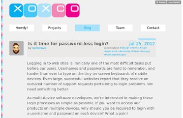 http://notes.xoxco.com/post/27999787765/is-it-time-for-password-less-login