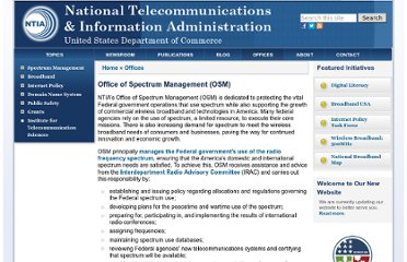 http://www.ntia.doc.gov/office/OSM