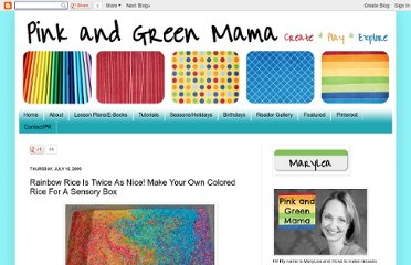 http://pinkandgreenmama.blogspot.com/2009/07/rainbow-rice-is-twice-as-nice.html