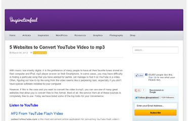 http://inspirationfeed.com/resources/tools/5-websites-to-convert-youtube-video-to-mp3/