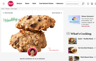 http://www.foodnetwork.com/recipes/ellie-krieger/honey-oatmeal-raisin-cookies-recipe/index.html