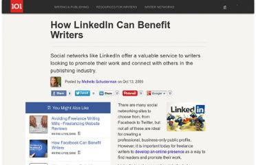http://suite101.com/article/how-linkedin-can-benefit-writers-a158624