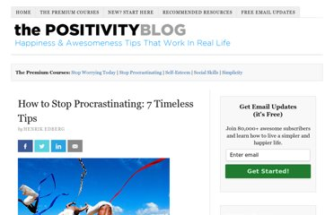 http://www.positivityblog.com/index.php/2009/04/23/how-to-stop-procrastinating-7-timeless-tips/
