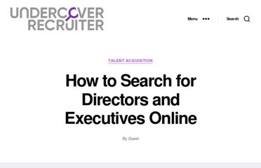 http://theundercoverrecruiter.com/how-search-directors-and-executives-online/
