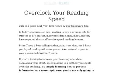 http://zenhabits.net/overclock-your-reading-speed/