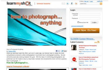 http://www.learnmyshot.com/How+to+Photograph+Anything