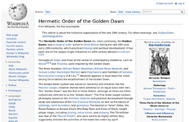 http://en.wikipedia.org/wiki/Hermetic_Order_of_the_Golden_Dawn