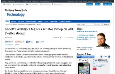 http://www.smh.com.au/technology/technology-news/abbotts-budgies-tag-sees-senator-swoop-on-abc-twitter-stream-20100524-w7di.html